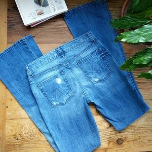 7 For All Mankind Jeans - 7 For All Mankind A-Pocket Distressed Jeans